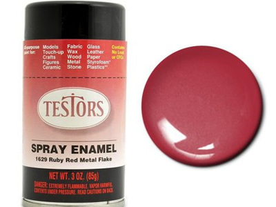 Testors Paint Enamel Red Metal Flake Spray