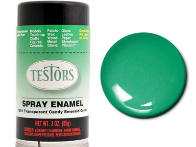 Testors Paint Enamel Transparent Candy Green Spray