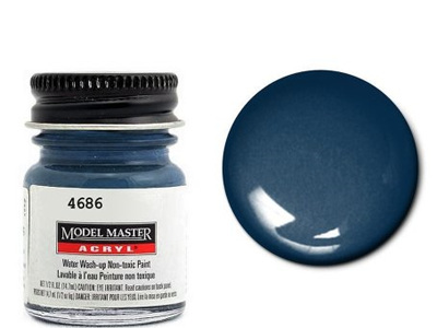 Testors Paint Model Master Acrylic Gloss Dark Sea Blue FS15042