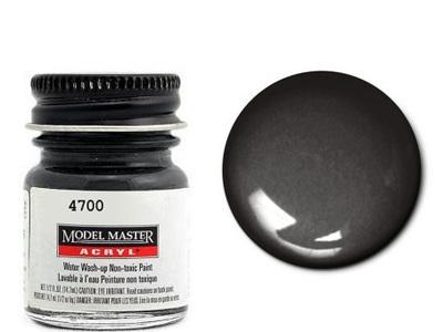 Testors Paint Model Master Acrylic Semi Gloss Black FS27038