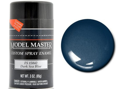Testors Paint Model Master Enamel Dark Sea Blue Spray FS15042