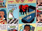 Text Talk - Comic Quilt