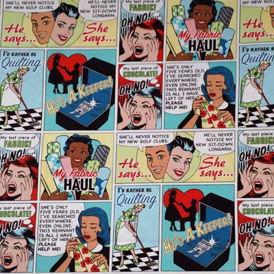 Text Talk - Comic Quilt