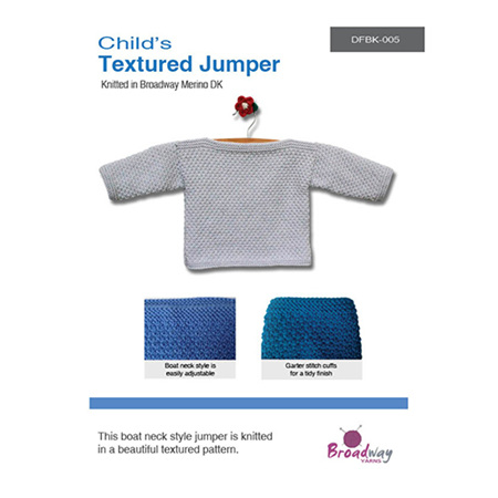 Textured Jumper - Childs Pattern by Broadway Yarns