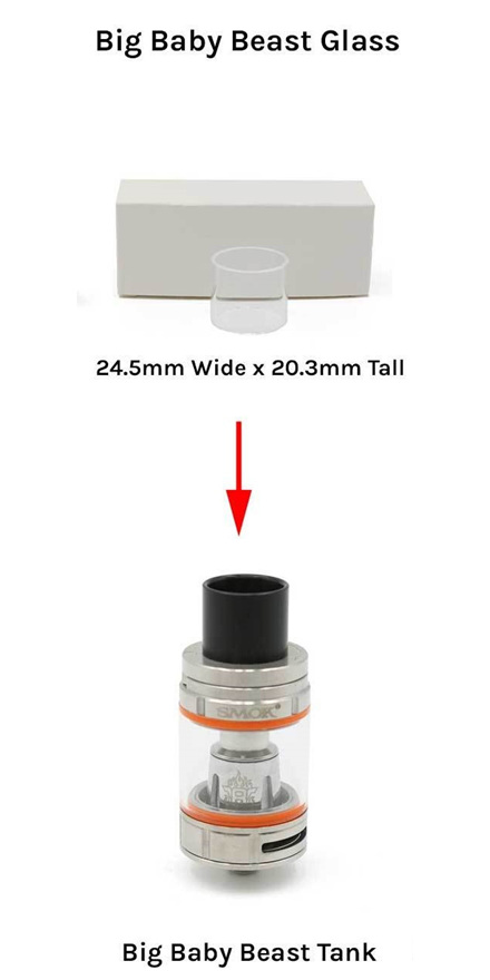 Tfv8 Big Baby Beast Replacement Glass