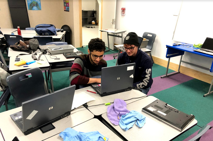 The AC BYOD team working hard to repair devices to be ready for redistribution