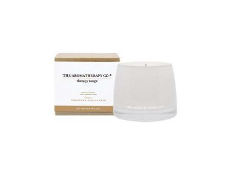 The Aromatherapy Cinnamon & Vanilla Bean Candle 260g