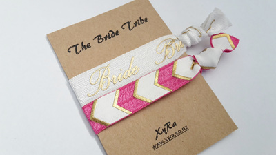 The Bride Tribe (pack of 2 hair ties)