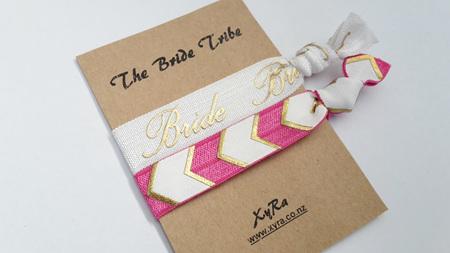 The Bride Tribe (pack of 2 hair ties)