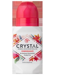 The Crystal Mineral Deodorant RollOn  Pomegranate