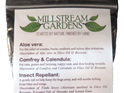 The details on the back of the herbal first aid kit