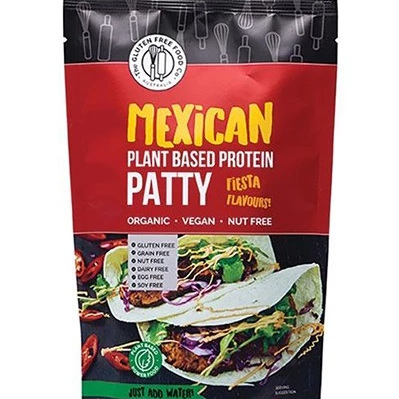 The Gluten Free Food Co Plant Based Protein Patty Mexican 200g