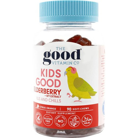 The Good Vitamin Co Kids Good Elderberry plus Ivy 90s