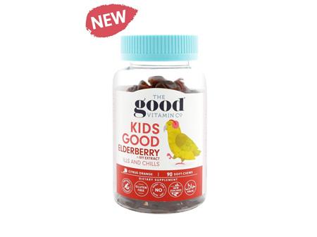 The Good Vitamin Company Kids Good Elderberry + Ivy Extract Ills & Chills Soft Chews Soft Chews 90s