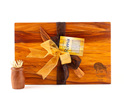 the great nz cheese board and knife set - kiwi bird - heart rimu