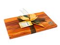 the great nz cheese board and knife set - paua koru - heart rimu