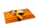 the great nz cheese board and knife set - silver fern - heart rimu