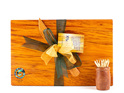 the great nz cheese board and knife set with paua koru - heart rimu