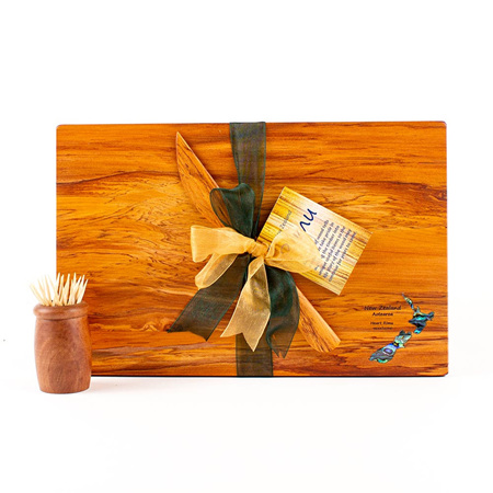The Great NZ Cheese Board and Knife Set with Paua - Special