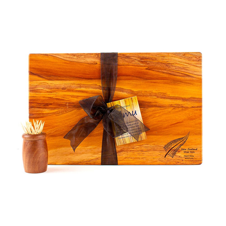 The Great NZ Cheese Board with Engraved NZ Icon