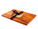 the great nz cheese board with engraved nz silver fern - heart rimu