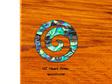 the great nz cheese board with Paua Koru - heart rimu - detail