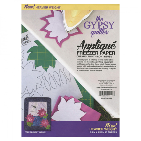 """The Gypsy Quilter Freezer Paper - Small (8.5"""" x 11"""")"""