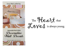 'The Heart .... Wall Lettering