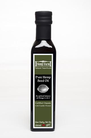 The Hemp Farm Certified Organic Canadian Hemp Seed Oil 250ml
