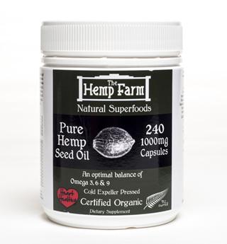 The Hemp Farm Organic Hemp Seed Oil 1000mg Capsules