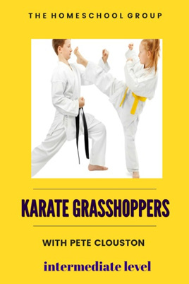 10:00 am, KARATE GRASSHOPPERS (last term's students only)