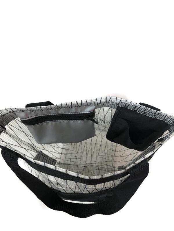 The inside of the beach bag