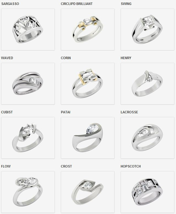 The Inspired Collection Engagement ring examples