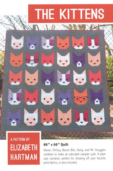 The Kittens Quilt Pattern from Elizabeth Hartman