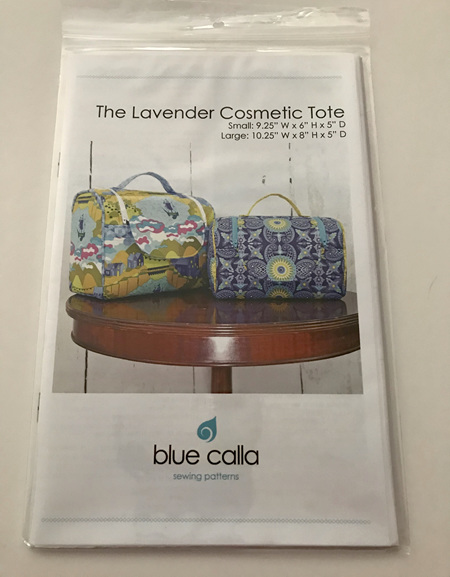 The Lavender Cosmetic Tote Pattern