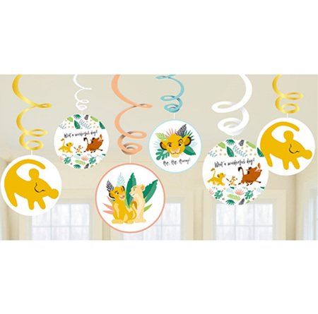 The Lion King swirl decorations
