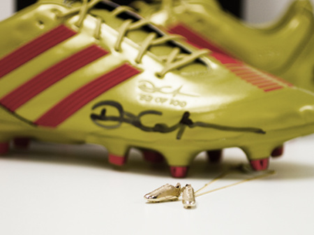 The Making Of Dan Carter's Miniature Gold & Diamond Rugby Boots