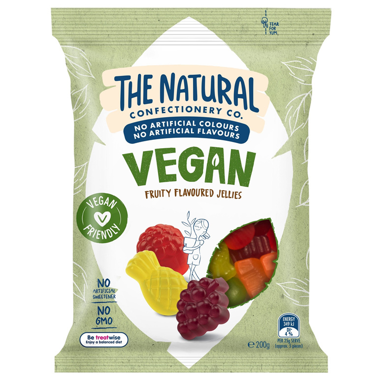 The Natural Confectionery Co Vegan Fruity Jellies 200g