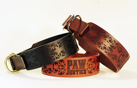 The Paw Justice Gothic Koru Charity Collar