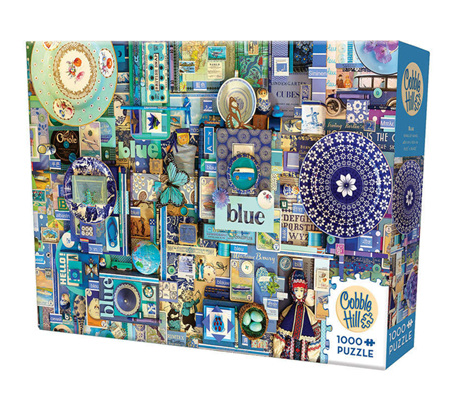 'The Rainbow Project'  Cobble Hill 1000 Piece Jigsaw Puzzle Colour - Blue