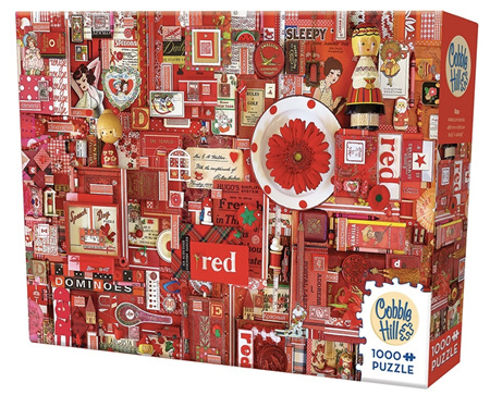 'The Rainbow Project'  Cobble Hill 1000 Piece Jigsaw Puzzle Colour - Red