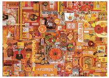 'The Rainbow Project'  Cobble Hill 1000 Piece Jigsaw Puzzle Colour - Orange