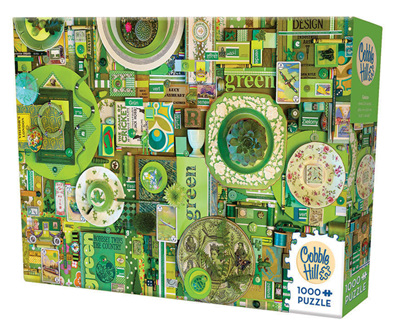 'The Rainbow Project'  Cobble Hill 1000 Piece Jigsaw Puzzle Colour - Green