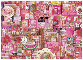 'The Rainbow Project'  Cobble Hill 1000 Piece Jigsaw Puzzle Colour -  Pink
