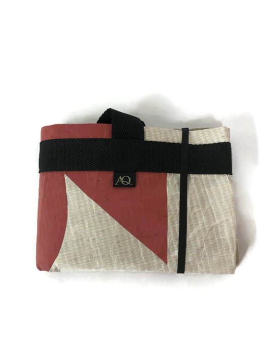 The recycled supermarket sailcloth bag folds up small
