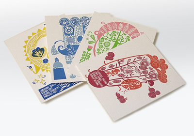 The Seasons letterpressed prints