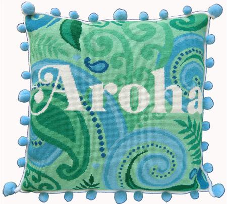 The Stitchsmith Aroha needlepoint kit