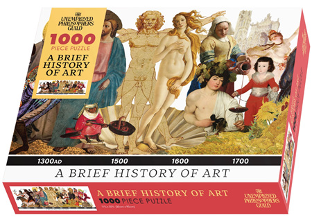 The Unemployed Philosophers Guild 1000 Piece Jigsaw Puzzle: Brief History of Art
