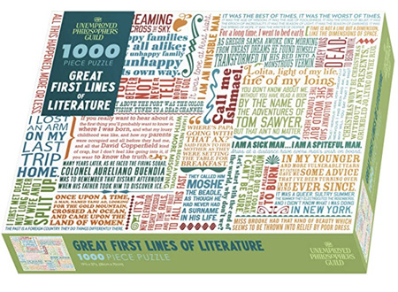 The Unemployed Philosophers Guild 1000 Piece Jigsaw Puzzle: Great First Lines Of Literature