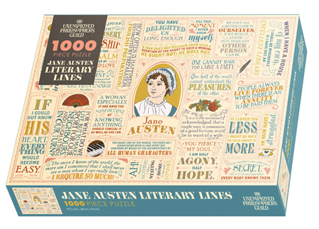 The Unemployed Philosophers Guild 1000 Piece Jigsaw Puzzle: Jane Austen Literary Lines